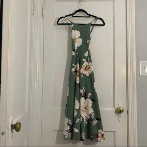 Soprano Floral Spaghetti Strap Midi Dress